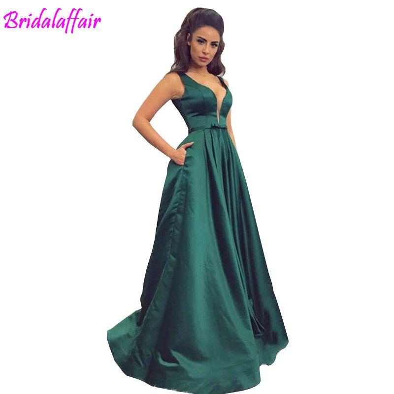 874f2c90be34 2019 vestido de festa personalizado verde longo vestidos de baile cetim  vestido de noite vestido de festa vestidos longos partido elegante vestido  de ...