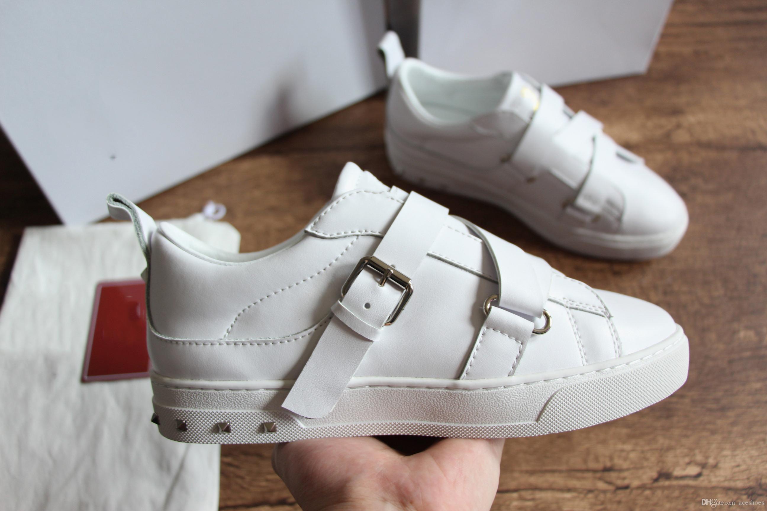 f4e1036bb5c700 Acquista Nuove Scarpe Da Uomo Di Design Da Uomo Di Lusso Con Nastro Di  Lusso Di Alta Qualità Di Marca Di Design Sneakers Scarpe Basse Bianco  Scatola ...