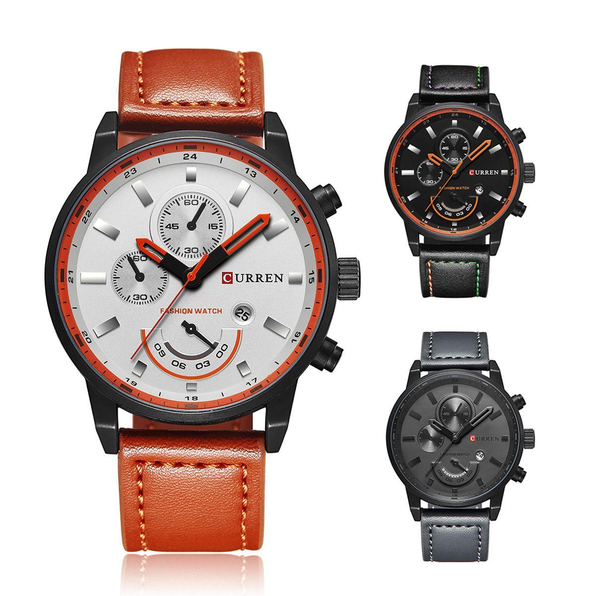 75deef2bb4b Compre Top Marca De Luxo Dos Homens Relógios Desportivos Moda Casual Relógio  De Quartzo Homens Militar Relógio De Pulso Masculino Relogio Relógio CURREN  ...