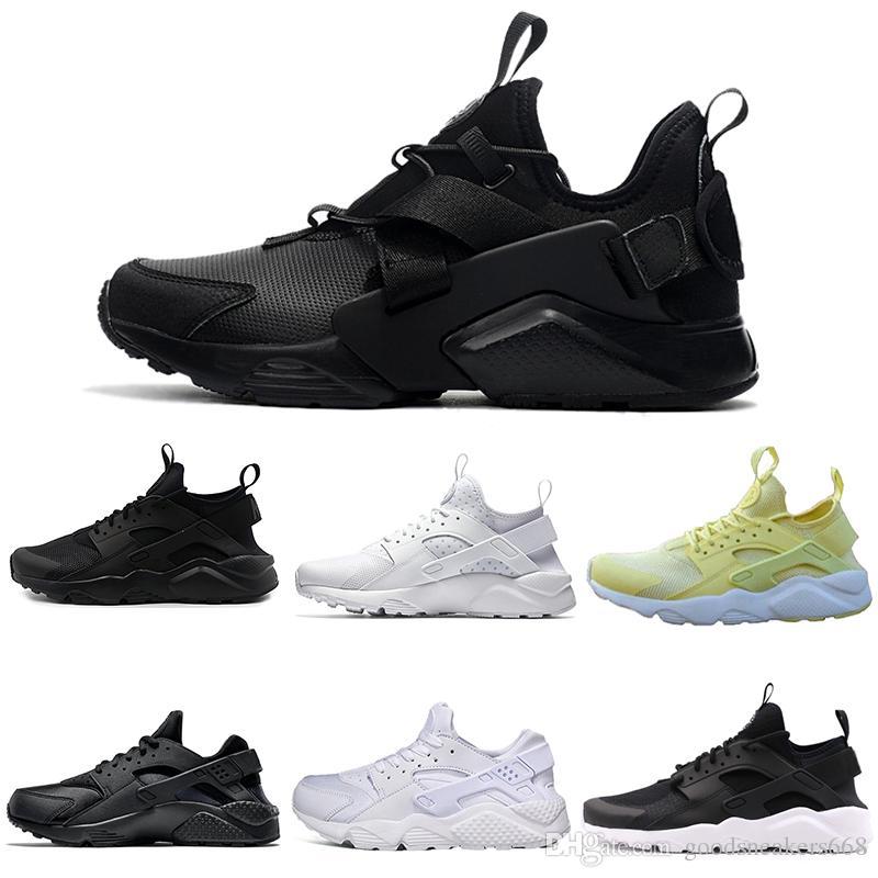 on sale eab6e 6bfc2 Compre Zapatillas Huarache Baratas 2019 Triple Blanco Negro Huraches  Zapatillas De Correr Para Hombres Y Mujeres Zapatos Al Aire Libre  Zapatillas Huaraches ...
