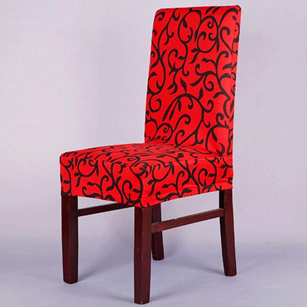 2019 Short Dining Chair Cover Universal Floral Ptinted Stretch