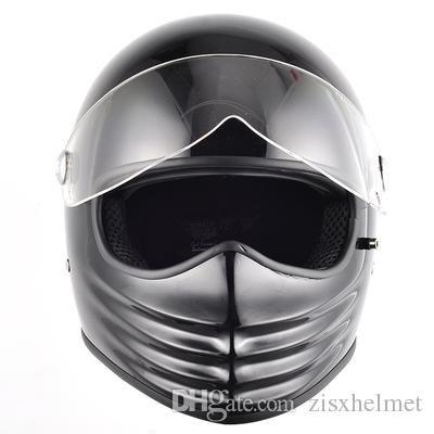 Frp Full Face Motorcycle Cross Vintage Shield Visor Helmet Street Custom Cafe Racer Drop Shipping Cool Gost Japanese Style Youth Helmets