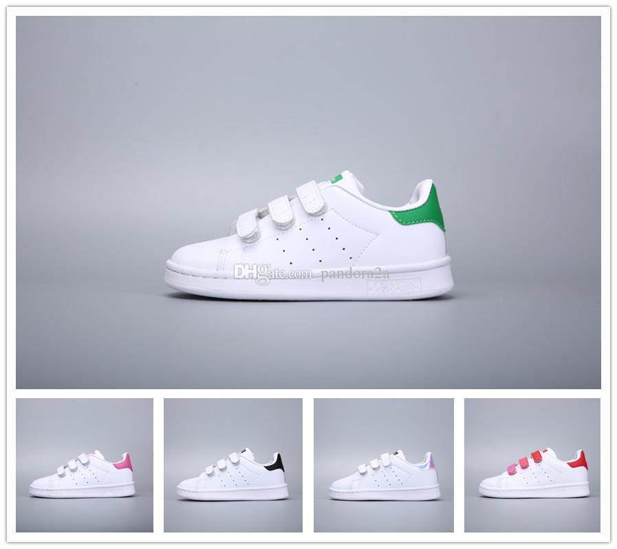 online retailer 05e95 24ace Compre Adidas Stan Smith Marca Niños Superstar Zapatos Original Oro Blanco  Bebé Niños Superstars Sneakers Originales Super Star Niñas Niños Deportes  Casual ...
