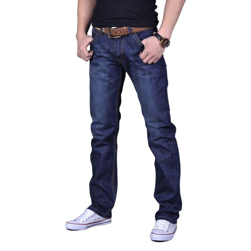 2019 New Style Hot New 2018 Large Size 30-44 46 Jeans Fashion Loose Big Pockets Hip-hop Skateboard Casual Men Denim Blue & Black Design Brand Men's Clothing