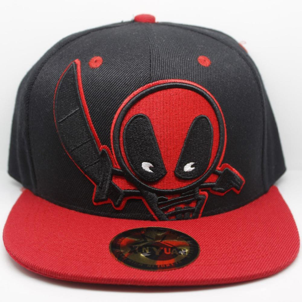93eb0140effc15 Marvel Deadpool Cartoon Hat Fashion Classic Popular Street Hip Hop Baseball  Cap Exquisite Embroidery Black Canvas Adjustable Hat Custom Caps Cool Caps  From ...