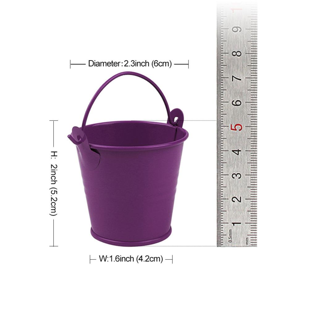 Mini Candy Tin Bucket Party Favors Pastoral Style Gifts Bag Hanging Flower Pot Planters for Wedding Party Decoration