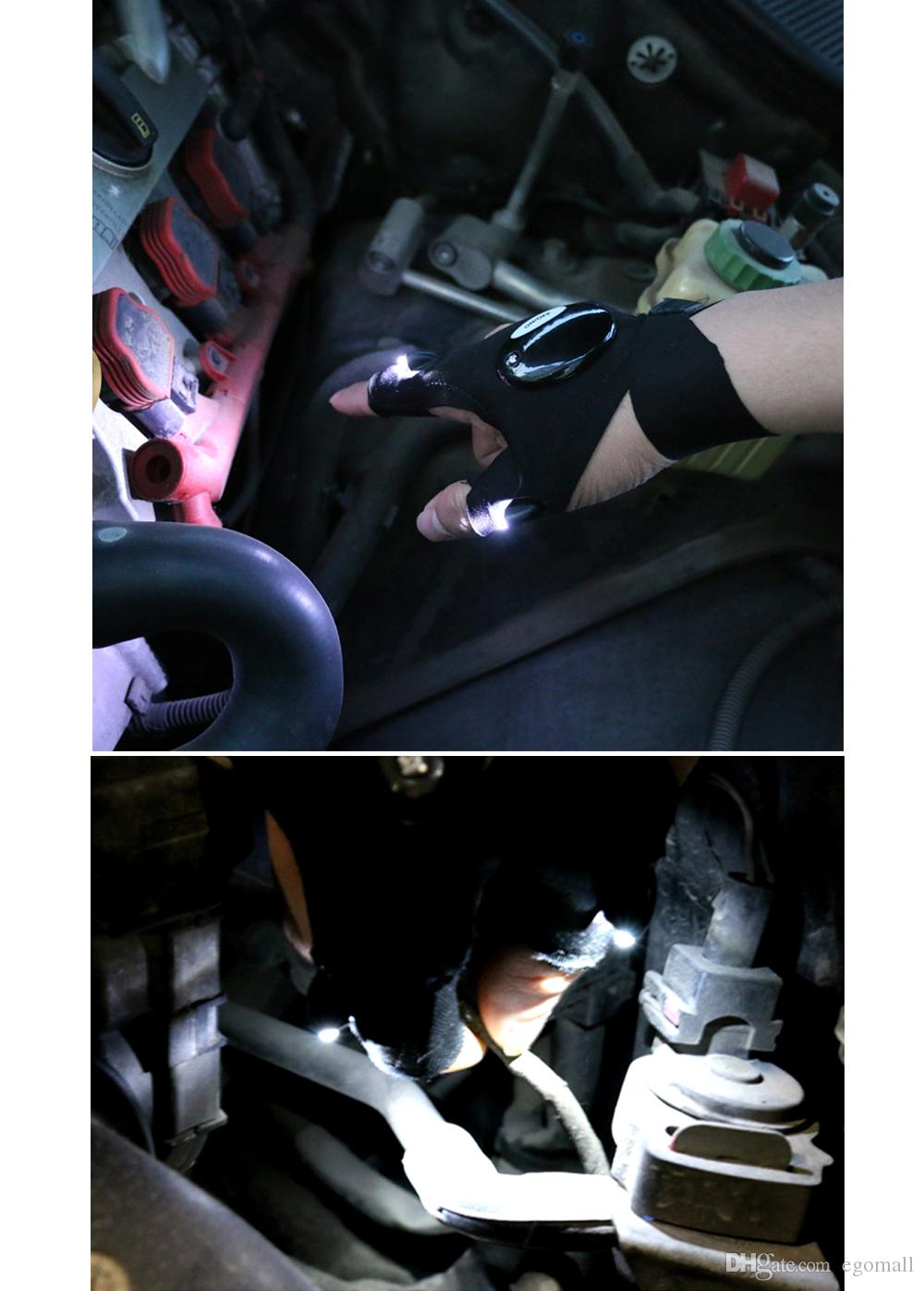 Lighting glove Night car repair glove led light Night fishing lamp glove hanging bait lamp night fishing supplies