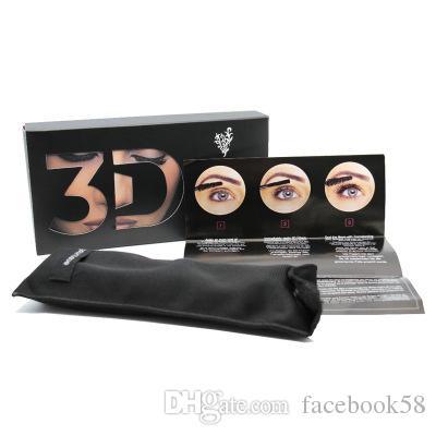 2018 Yeni 1030 Sürüm 3D Fiber Lashes Kirpik Su Geçirmez Çift Maskara 3D FIBER LASHES Set Makyaj Kirpik 1 takım = 2 adet Makyaj