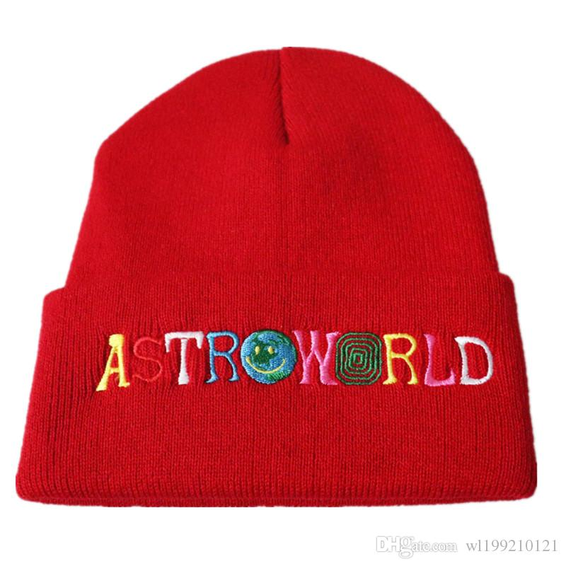2a9b63d6ee0 ASTROWORLD Knit Cap 2018 Travi  Scotts Beanie 3D Embroidery ...