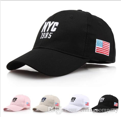 dbc5f1a85b8 Designer Brand NYC Cotton Baseball Caps Basketball Hats For Adults ...