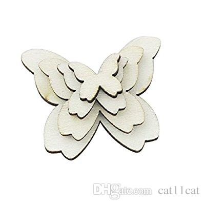 Mixed Size Wooden Butterfly Cutouts Craft Embellishment Gift Tag Wood Ornament for DIY