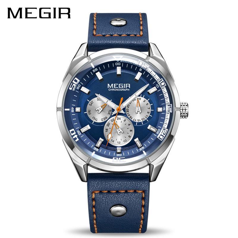 884ee2cf9bf2 MEGIR Ejército Creativo Militar Relojes Hombres de Lujo Marca Reloj de  pulsera de Cuarzo Reloj de Los Hombres Relogio Masculino Erkek Kol Saati  Y1892107