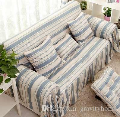 Marvelous Plain Striped Sofa Cover Slip Resistant Sofa Cover Customize Sofa Cover  Living Room Seat Covers Rent Tablecloths And Chair Covers From Gravityhome,  ...