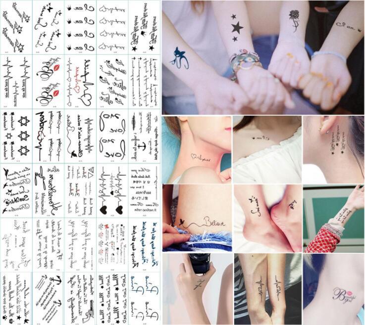 210 Styles Tattoo Stickers Waterproof Body Art Temporary Tattoos ...