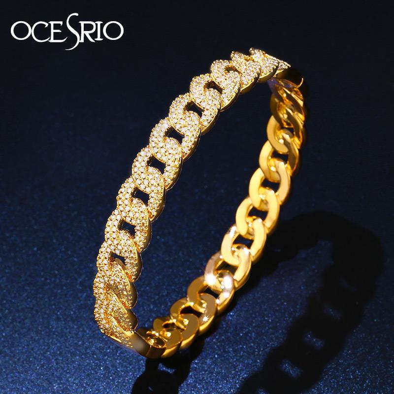 cddc1387e8c9b OCESRIO Brand Dubai Gold Bangle Bracelet High Quality Cubic Zirconia CZ  Love Knot Bracelets Woman Dubai Gold Jewellery brt-a75
