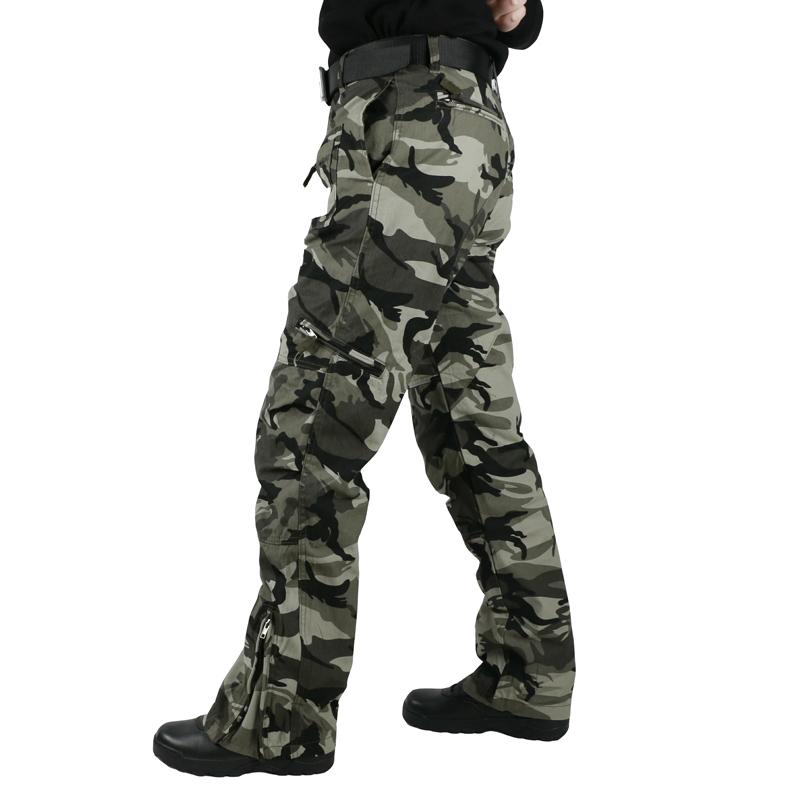 303b750a6a457 Tactical Pants Male Camo Jogger Casual Plus Size Cotton Trousers Multi  Pocket Style Army Camouflage Men's Cargo Pants