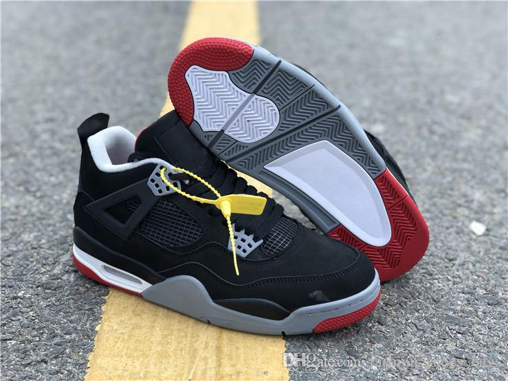 abfeeb436db4 Hydro IV Bred Basketball Shoes Designer Mens New 4 Running Shoes 4s Sneakers  Casual Shoes With Double Box Free Ship US 8 14 Shoes Jordans Sneakers On  Sale ...
