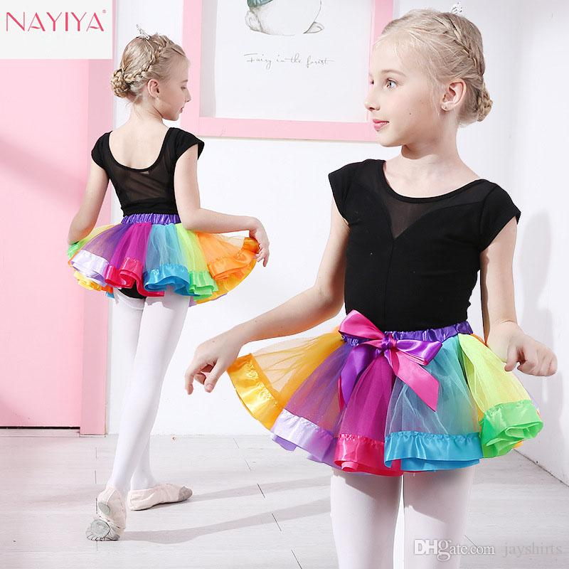 0f8fffd1d18f Children Rainbow Color Tutu Dresses Colorful Skirts Dancewear For ...