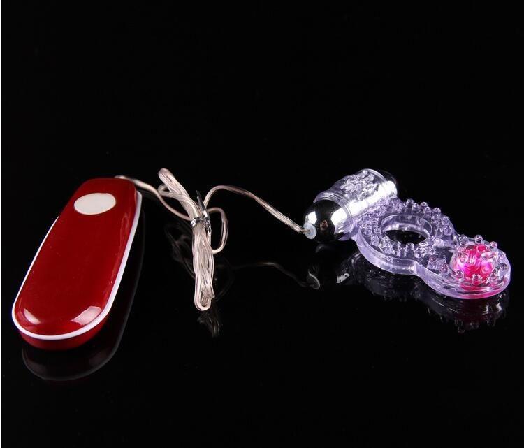 sex toys for men Bead Crystal Vibrating Delay Loop Locking Ring Long-lasting Fun Vibration Ring