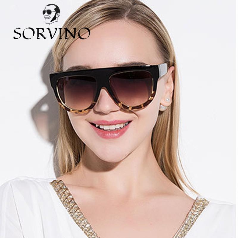 4d0fa5726da2 SORVINO Fashion Women Sunglasses Oversized Brand Designer Flat Top ...
