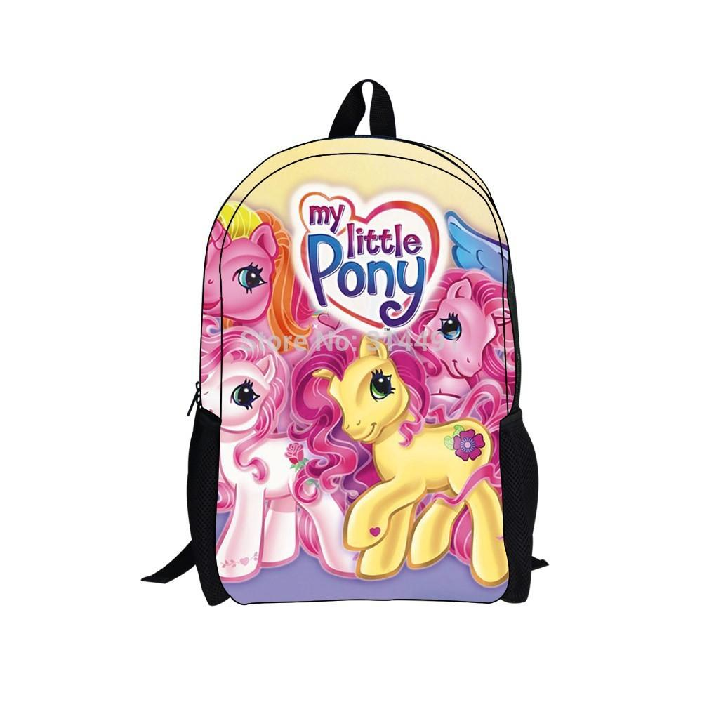 70a257e8b716 16 Inches My Little Horse Pony Backpack Cartoon Movie Backpack For Children  Kids Back Pack My Pony Satchel Bags Man Bags From Ajshoesstore