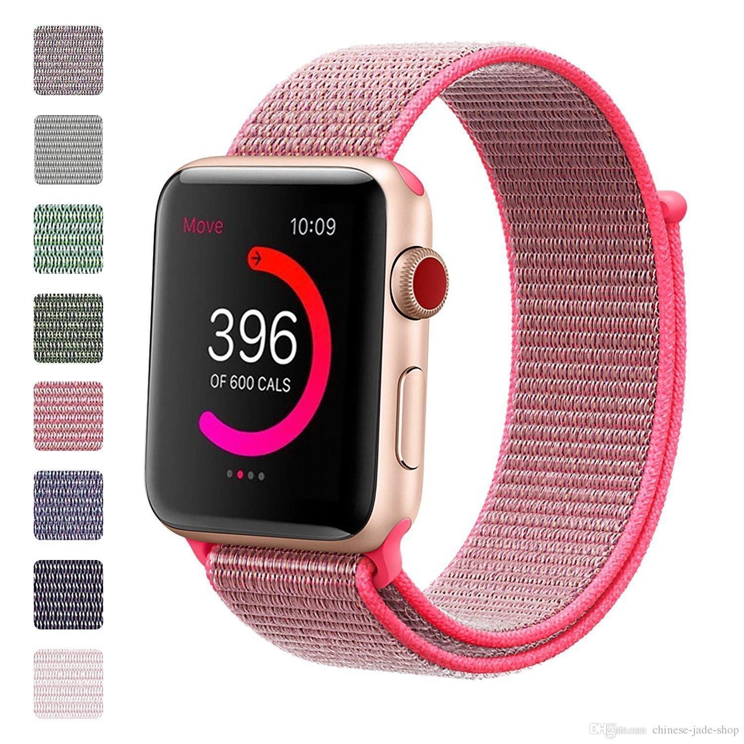 Acquista Apple Watch Series 4 1 2 3 Iwatch 4 38mm 42mm 40mm 44mm Nylon  Sport Loop Bracciale Cinturino Cinturino Di Ricambio 20 Pz   Lotto A  3.72  Dal ... 147da1476d1