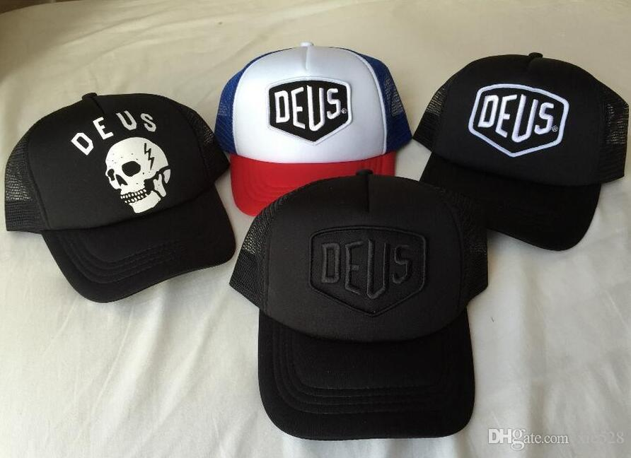 Deus Ex Machina Baylands Trucker Snapback Caps Black MOTORCYCLES ... e20b0ef41ec5