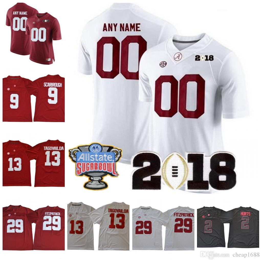 95152ede3 2019 Custom 2018 NEW Alabama Crimson Tide College Football Stitched ...