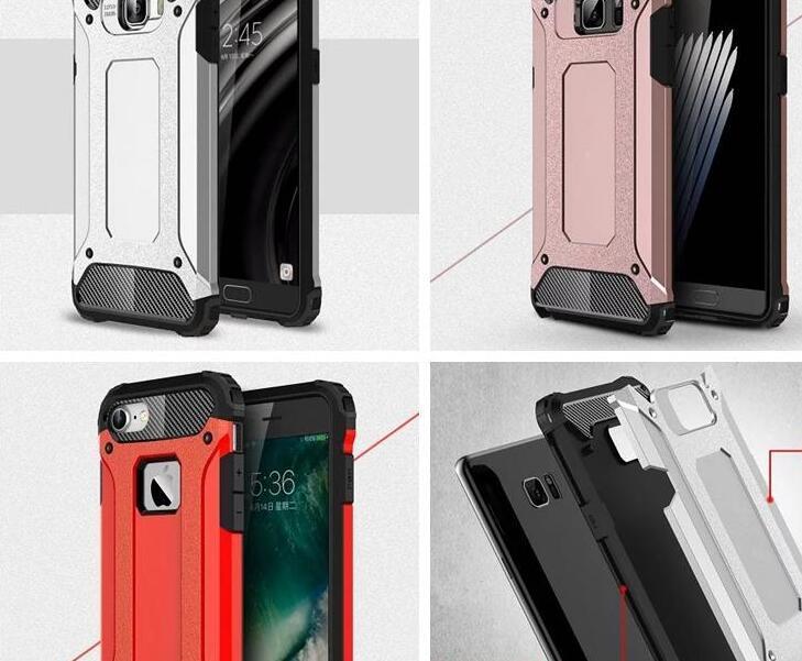 Durável camada armadura plástica casos híbridos para iphone 13 pro mini 12 11 xs xs max x 10 8 7 6 galáxia s20 plus difícil pc + tpu pesado pesado à prova de ouro rosa homens tampa telefone pele