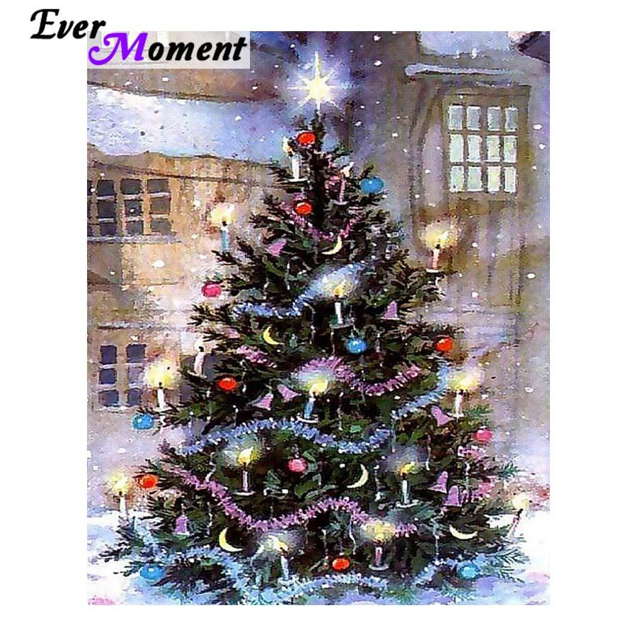 wholesale DIY Diamond Painting Cross Stitch Christmas Tree Festival Decoration Christmas Gift Craft Full Square Drills ASF1022