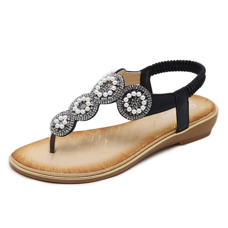 498fc2eba64502 2018 High Quality New Hot Summer Lady Fashion Sandals Latest Fashion Rhinestone  Flat Shoes Designer Flip Flops Silver Shoes Mens Sandals From Cherishu