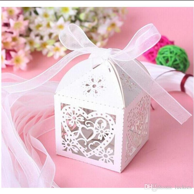 Love Heart Laser Cut Wedding Party Favor Box Candy Bag Chocolate