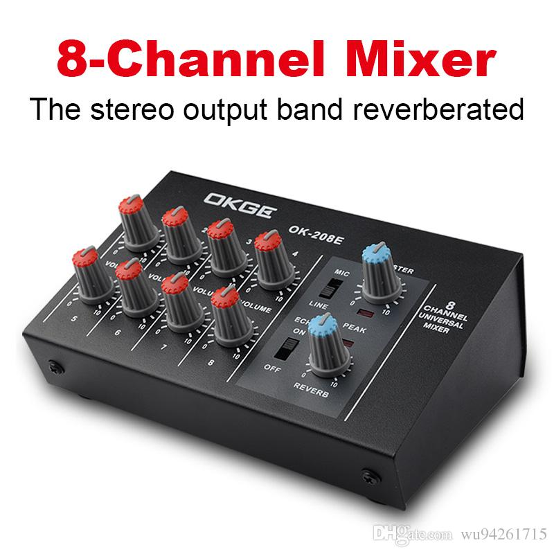 mini audio mixer console with usb built in effect processor audio mixer 8 channel mixer sound. Black Bedroom Furniture Sets. Home Design Ideas