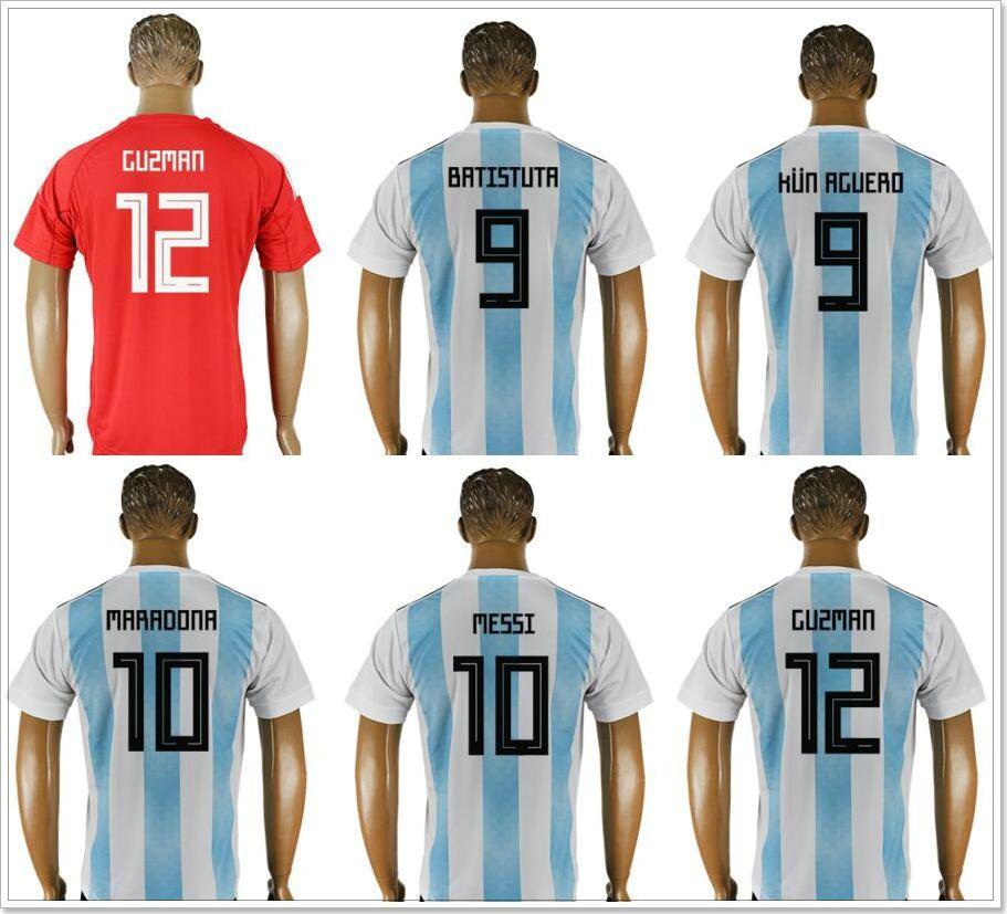 huge selection of 7ed31 54038 Argentina #9 Gabriel Batistuta Mauro Icardi Sergio Agüero 10 Diego Maradona  Lionel Messi 11 Ángel Di María Mens Soccer Jerseys Shirts Custom