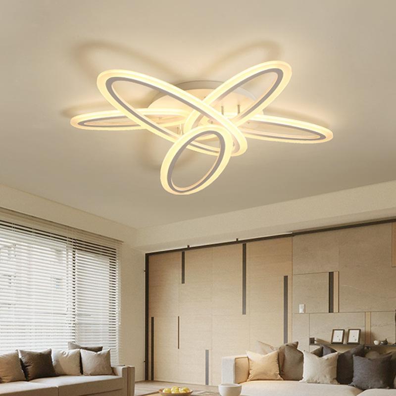 Moderne minimalistische LED Deckenleuchte Wohnzimmer Lampe atmosphärische  kreative Schlafzimmer Kunst Lichter