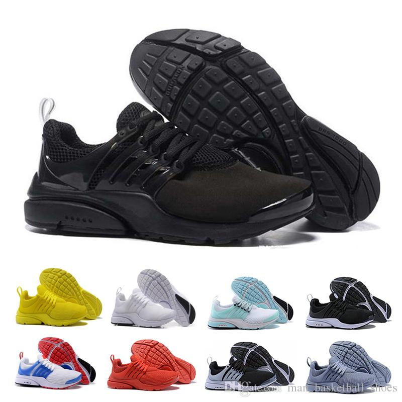 new product f42c0 b01b2 2019 yellow Presto Running Shoes For Men Women Classic mens Black White Red  Grey prestos trainers shoes women Athletic Sport Sneakers