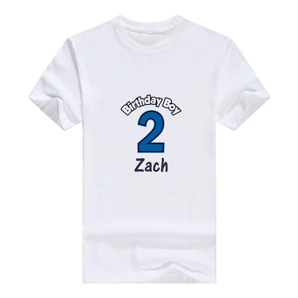 New Metal Casual Shirt All Personalized 2Nd Birthday Boy Custom Infant ManS T Short Cotton Crew Neck Shirts White Designs Awesome