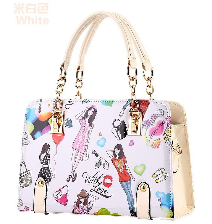 2016 New Design Women S Singles Shoulder Bag Woman 2018 Fashion Handbag  High Quality Chain Handbag Beautiful Map Casual Totes Blue Leather Goods  Purses For ... c38b702046