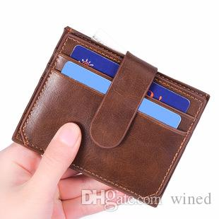 Leather Men's Credit Card Holder Women Metal Bank Name Business Card Case Card Box