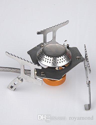 EL INDIO Réchaud à gaz de camping portable avec réchaud pour sac à dos léger et pliable à allumage piézo-électrique avec étui de transport 3200W
