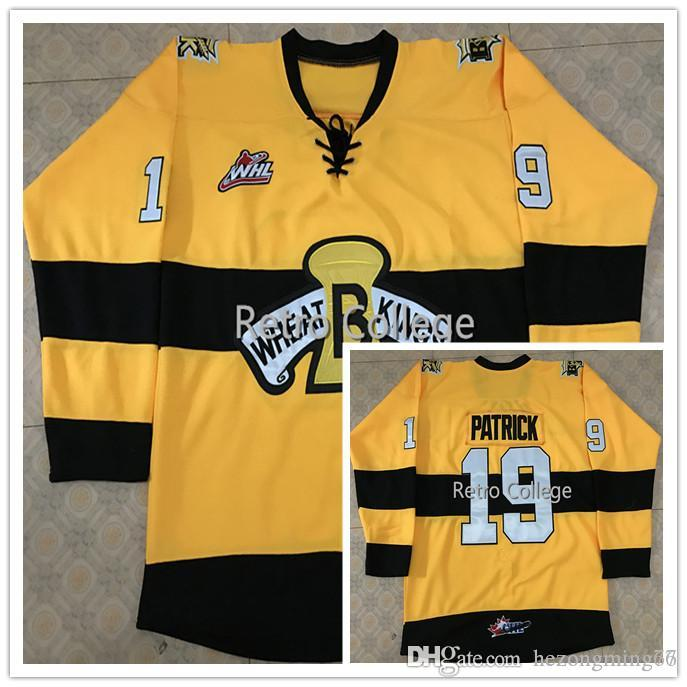 Brandon Wheat Kings  19 Nolan Patrick Hockey Jersey Custom Plain Embroidery  Stitched Customize Any Number And Name College Jerseys Online with   57.92 Piece ... 0277c8445
