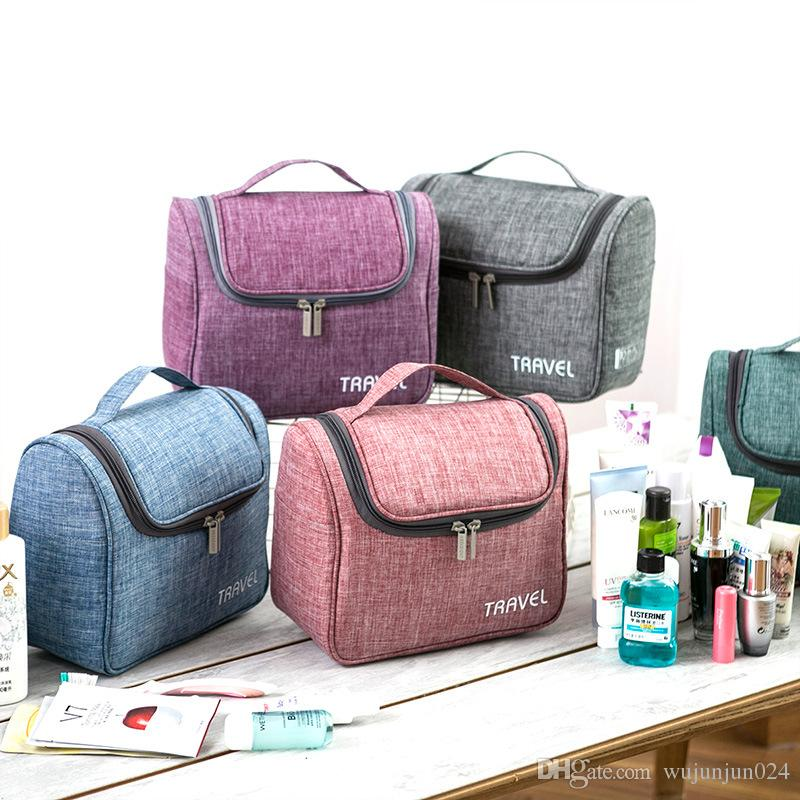 d9b41875ef6 2019 New Style Waterproof Female Portable Cosmetic Bag Polyester Travel Organizer  Cosmetic Bag For Male Makeup Case Wash Toiletry Bag From Wujunjun024, ...