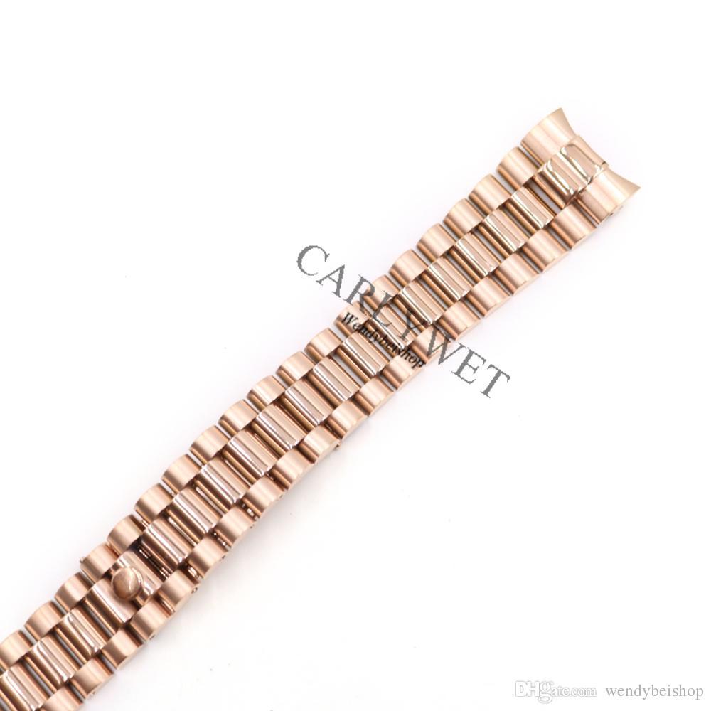 CARLYWET 20 мм серебряный черный средний Золотой твердый изогнутый конец винт ссылки из нержавеющей стали замена наручные часы браслет ремешок