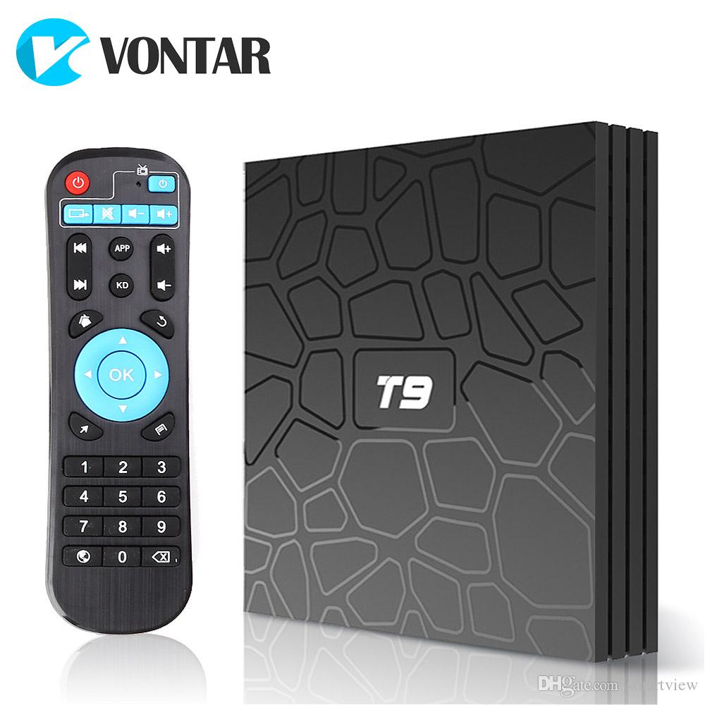 Android 8 1 TV Box T9 Rockchip RK3328 4GB 32GB 4GB 64GB with Google Play  Store Netflix Youtube T9 Smart IPTV BOX