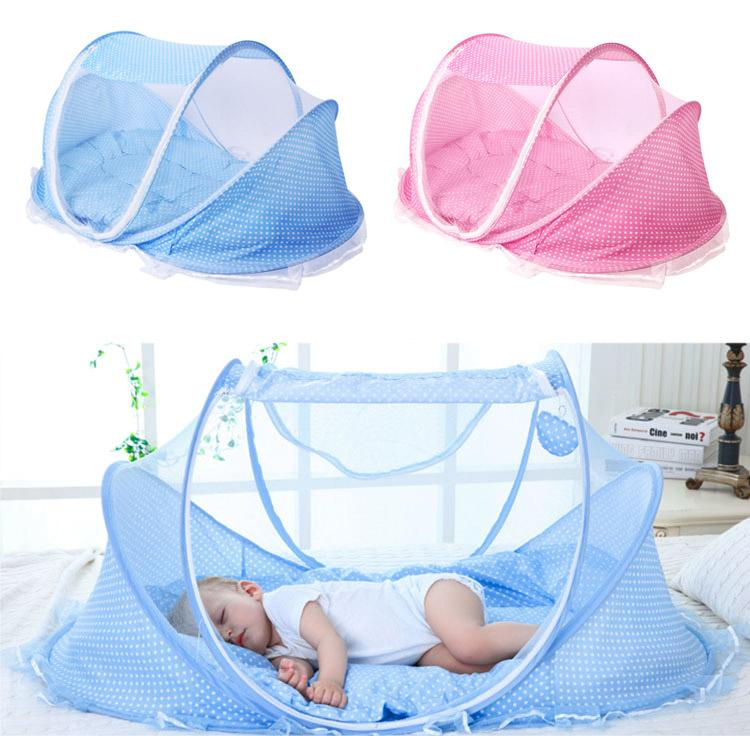 Pink/blue 2018 New Baby Mosquito Bed Net Infants Sleeping Pad Pillow Yurt Bedspread Mosquito Net Collapsible Portable Back To Search Resultsmother & Kids Baby Bedding