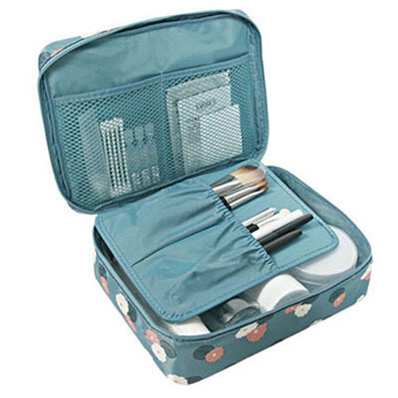 25b1ed952c98c0 Neceser Zipper Makeup Bag Neceseries Cosmetic Bag Dot Beauty Case ...
