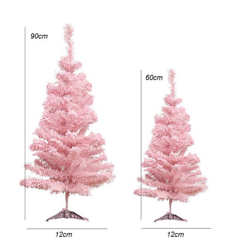 Rosa Weihnachtsbaum.Rosa Weihnachtsbaum Leuchtende Künstliche Weihnachtsbaum Xmas Party Urlaub Ornament Home Decor Büro Dekorationen