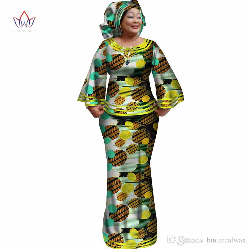 c65d8592a97fd 2018 New African Loose Kanga Dresses for Women Dashiki Traditional ...