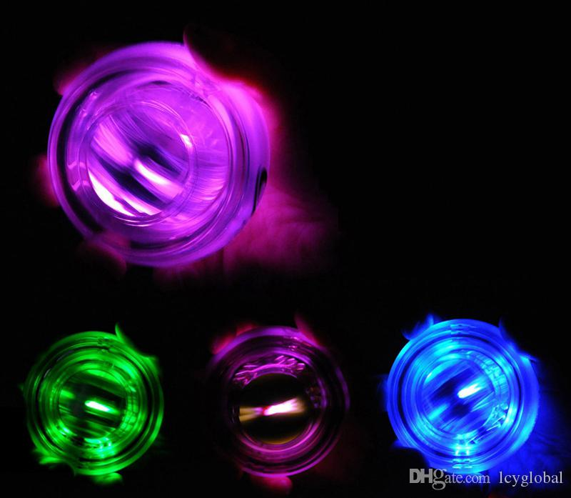 New LED Wrist Power Ball Roller with Strap Gyroscope Force Strengthener Hand Ball Wrist Exercise Creative Toys With Retail Packaging