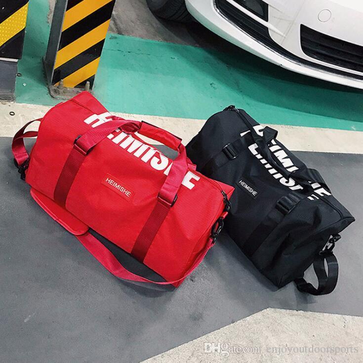 2ca0c989aea7 2019 Men Gym Bags For Training Bag 2018 Tas Fitness Women Travel Handbag  Outdoor Sports Shoes Women Dry Wet Gymtas Yoga Bags Duffle Shoulder Bags  From ...